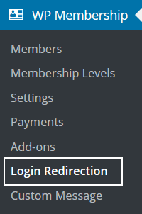 after-login-redirection-addon-settings-menu