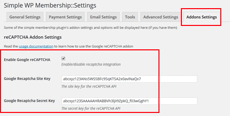 simple-membership-google-recaptcha-integration-settings