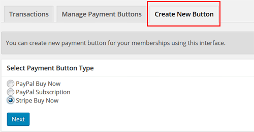 Create Stripe Buy Now Button for Membership Payment