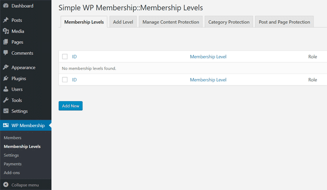 swpm-membership-levels-interface