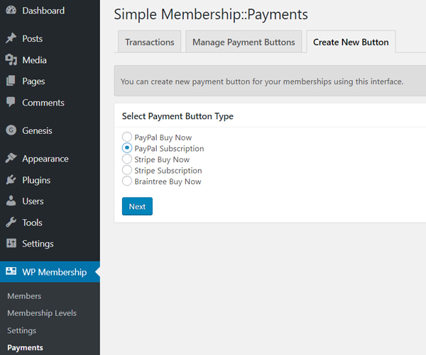 create-new-button-simple-membership-trial-period