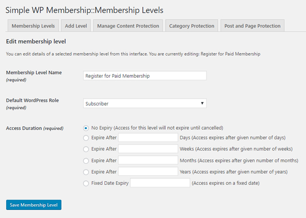 creating-membership-level