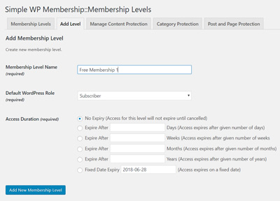 creating-multiple-free-membership-levels